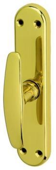 Bal Becchetti  maniglia per porta finestra quadro 7 ottone lucido verniciato