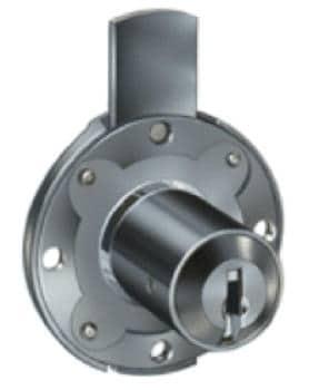 Cas Meroni Securital serratura cilindro mm 17 x 35 nichelato lucido