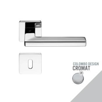 Maniglia moderna per porta Colombo Design ESPRIT con rosetta bocchetta foro Normale finitura Cromo Opaco