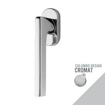 Maniglia moderna DK per finestre Colombo Design GIRA con rosetta ovale finitura Cromo Opaco
