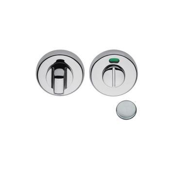 Nottolino tondo CD69-BZGH con segnalatore Colombo Design per porta finitura Cromat
