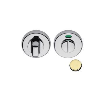 Nottolino tondo CD69-BZGH con segnalatore Colombo Design per porta finitura Oroplus