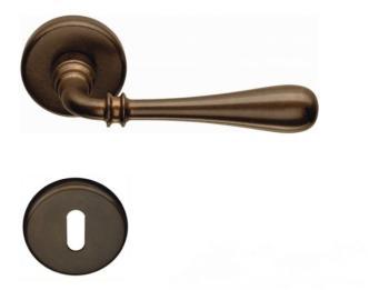 Maniglia per porta Colombo Design serie Ida con rosetta foro Normale finitura Bronzo Antico