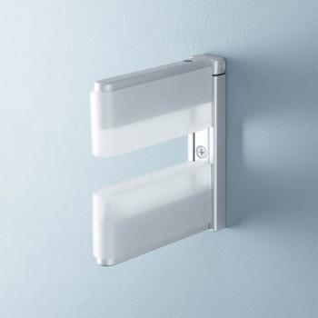 Reggimensola regolabile MS01428 bianco opal/base argento Confalonieri da mm 10 a mm 50