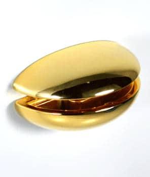 Reggimensola a morsetto dorata Confalonieri per mensole in vetro