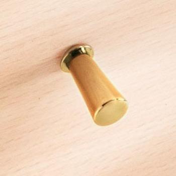 Pomolo per mobile in ottone Confalonieri diametro 10 mm Altezza 21 mm  finitura Oro