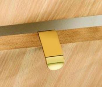 Maniglia moderna per mobile a conchiglia Confalonieri B Oro Lucido