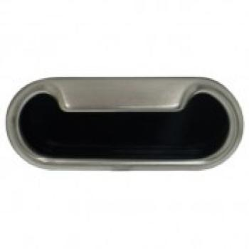Maniglia ad incasso ovale Confalonieri 100 mm Nichelata satinata