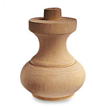 Piede per mobile in legno a cipolla 5 A