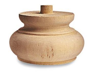 Piede per mobile in legno a cipolla 15 D