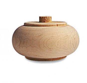 Piede per mobile in legno a cipolla 23 D