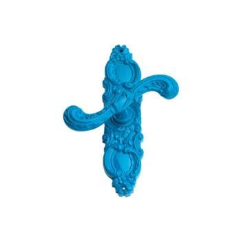 Maniglia per finestra Enrico Cassina serie Rococò Pop cremonese Blu