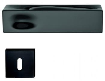 DND serie INTAKE Maniglia su rosetta e bocchetta BD06 PATENT finitura OTTONE VERNICIATO NERO