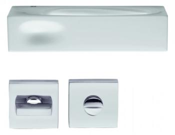 DND serie INTAKE Maniglia su rosetta e nottolino RDN17+A finitura BIANCO