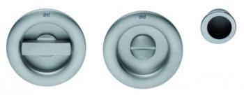 DND serie RONDO' Kit rosette incasso con nottolino q.8mm finitura POWER CROMO SATINATO