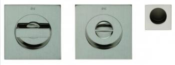 DND serie RING Kit rosette incasso con nottolino q.8mm finitura POWER CROMO SATINATO