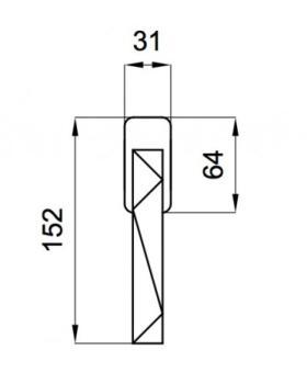 DND serie LUXURY 02 Martellina DK 7X40mm finitura CROMO LUCIDO