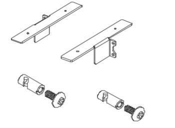 Coppia staffe per contenitori / cassettiere