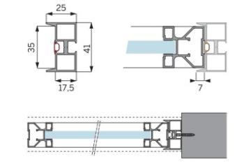 Opzionale - Stipiti per battuta laterale in Alluminio profilo Altezza 3000 mm