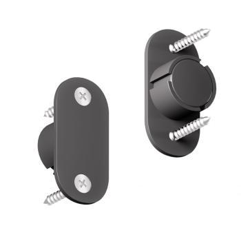 Kit magnete per porte scorrevoli diametro 15 mm NERO