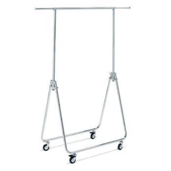 Stender porta abiti regolabile in altezza fino a 170 cm larghezza 80 cm e pieghevole con ruote