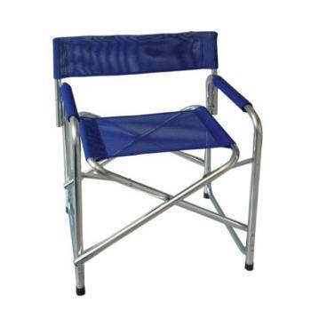 Sedia regista in alluminio colore Blu Papillon
