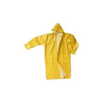 Impermeabile PVC giallo con cappuccio pesant XXL
