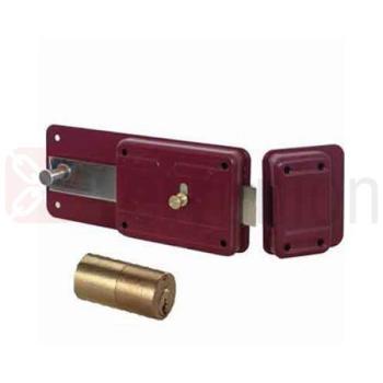 serratura Cisa scrocco mandata con cilindro fisso