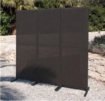 Paravento in polyrattan dimensioni cm 165x175 PAPILLON