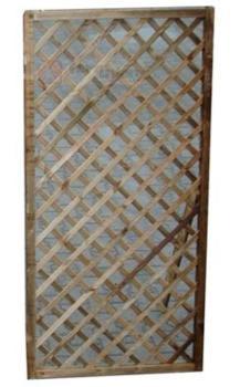 Pannelli in legno griglia rettangolare della serie Privacy di dimensioni cm 120x4,4x180 cm PAPILLON