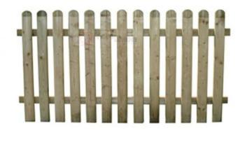 Staccionata in legno di dimensioni cm 180x100H PAPILLON