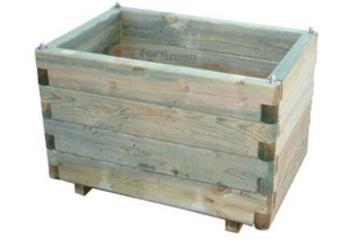 Fioriera in legno impregnato dimensioni cm 90x40x40