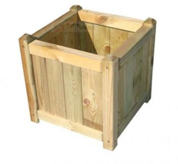 Fioriera quadrata con legno imbevuto dimensioni 40x40 cm PAPILLON