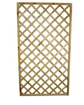 Pannello rettangolare grigliato in legno 180x90 cm PAPILLON