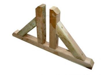 Piedino doppio per pannelli in legno Elementi 45x45 mm in kit PAPILLON