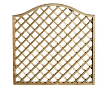 Pannello decorativo in legno griglia semicurva legno impregnato 150x150 cm