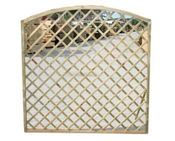 Pannello frangisole in legno griglia arco legno impregnato cm180x4,4x180