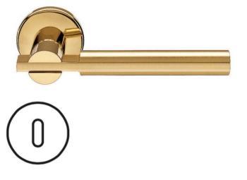Fusital serie RB NOVANTACINQUE H 329 maniglia rosetta bocchetta foro normale Oro/Oro satinato