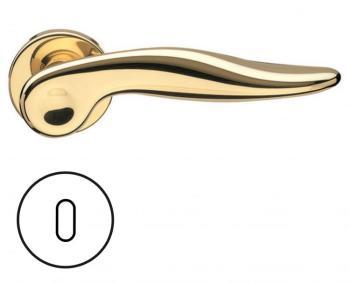 Fusital serie NF NOVANTOTTO h334 r8y Maniglia per porta interna rosetta bocchetta foro normale oro