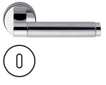 Maniglia Fusital Serie H 341 HK2 DUEMILA rosetta bocchetta tonda foro normale in Ottone e Acciaio Inox