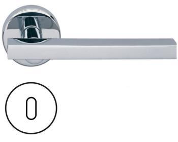 Fusital serie JP DUEMILA H343 Maniglia per porta rosetta bocchetta foro normale cromo
