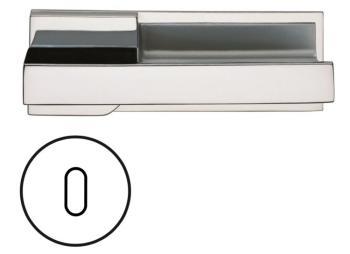 Fusital serie JN DUEMILAUNO H344 Maniglia per porta interna foro normale cromo