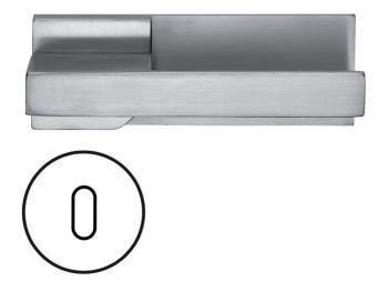 Fusital serie JN DUEMILAUNO H344 Maniglia per porta interna foro normale Cromo Satinato