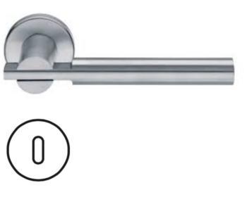 Maniglia per porta Fusital serie Himalaya H 5008 rosetta bocchetta tonda foro normale inox satinato