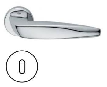 Maniglia per porta Fusital serie Arrowhead H 5021 rosetta bocchetta tonda foro normale cromo lucido