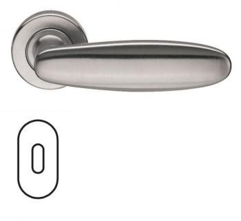 Fusital serie AC 1 NOVANTACINQUE H326 Maniglia per porta interna rosetta bocchetta ovale foro normale Cromo satinato