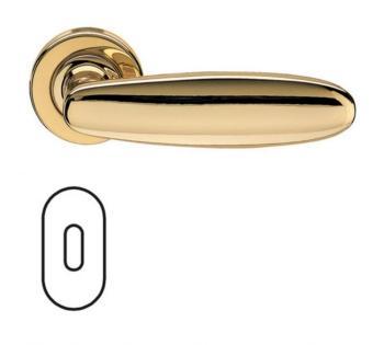Fusital serie AC 1 NOVANTACINQUE H326 Maniglia per porta interna rosetta bocchetta ovale foro normale Oro