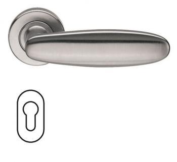 Fusital serie AC 1 NOVANTACINQUE H326 Maniglia per porta interna rosetta bocchetta ovale foro yale Cromo satinato