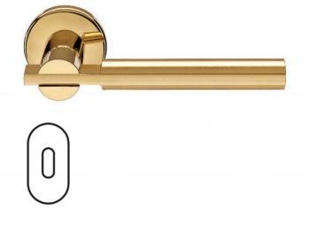 Fusital serie RB NOVANTACINQUE H 329 maniglia rosetta bocchetta ovale foro normale Oro/Oro satinato