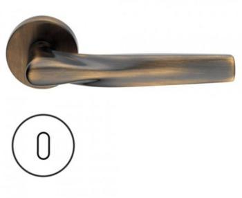 Maniglia per porte serie H 359 SOM New York DUEMILASETTE con rosetta bocchetta tonda foro normale bronzo satinato